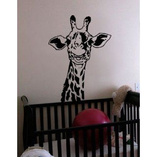Wall Art Decal Sticker Safari Giraffe Neck 30x21 #145