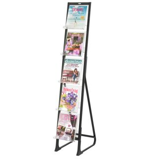 Safco Luxe 9 pocket Magazine Floor Rack