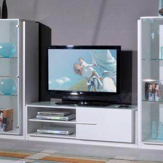 EVASION Meuble TV 150cm Blanc laqué   Achat / Vente MEUBLE TV   HI FI