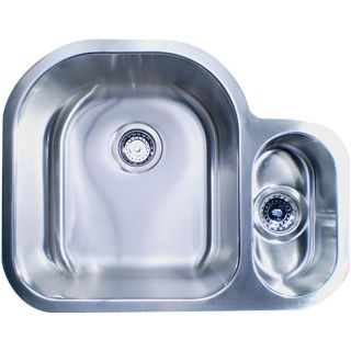 Compact Offset Double Bowl Sink