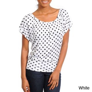 Stanzino Womens Scoop neck Polka dot Top