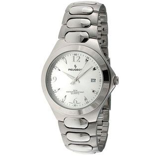 Peugeot Mens Silvertone Watch