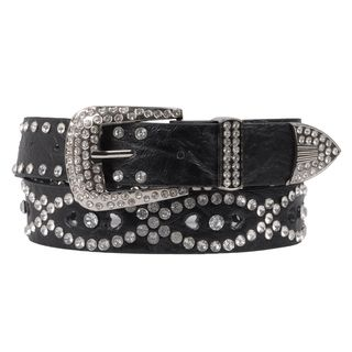 Hailey Jeans Co. Juniors Rhinestone Studded Cut out Belt
