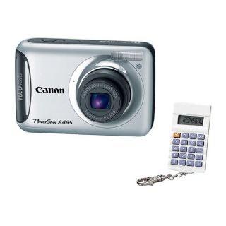 Canon PowerShot A495 10MP Silver Digital Camera and Key Chain