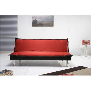 WASH Banquette Clic clac Tissu Rouge/Noir   Achat / Vente BZ   CLIC