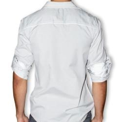 191 Unlimited Mens Grey Button front Shirt