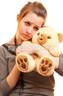 Sad girl with teddy bear  Stock Photo © BestPhotoStudio #1610810