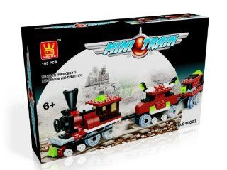 MINI TRAIN   BUILDING BLOCKS 169 pcs set 40603 in NICE