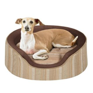 Soft Touch Sand ShowOff Large Jacquard Oval Cuddler Pet Bed