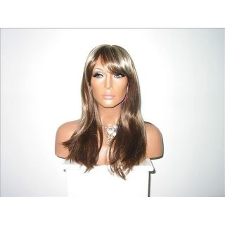 Star Flow Light Brown/ Blonde Full Lace 20 inch Human Hair Wig