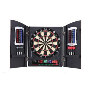 Cricketview 2DX Electronic Dart Board and Cabinet