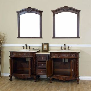 Ashby Double Marble Bathroom Vanity