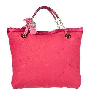 Lanvin Amalia Cherry Red Lambskin Leather Tote Bag