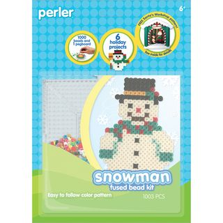 Perler Fun Fusion Fuse Bead Activity Kit Snowman