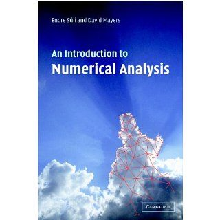 An Introduction to Numerical Analysis (9780521007948