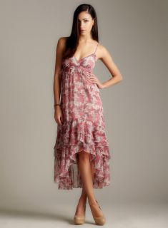 Romeo & Juliet Couture Tiered Ruffle Hi Lo Maxi Dress