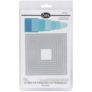 Sizzix Framelits Square Die Cuts Package of 8 Today $18.18 5.0 (3