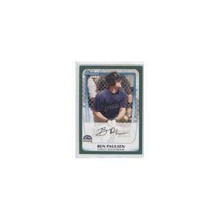 Ben Paulsen #252/450 Colorado Rockies BB (Baseball Card) 2011 Bowman