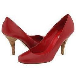 rsvp Anna Red Leather Pumps/Heels