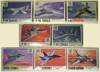 Set of 8 Plastic Model Fighter Jet Model Kits 1/144th