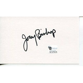 Joey Bishop The Rat Pack Star Comedian Actor Signed Autograph COA