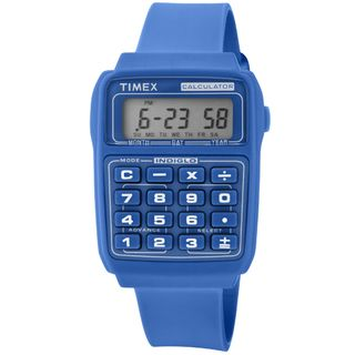 Timex Mens Retro Dilbert Calculator Stainless Steel Watch