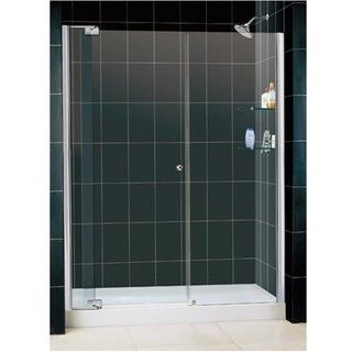 DreamLine Allure 54 61 inch Clear Glass Shower Door and  Base