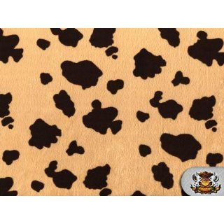 Velboa Faux / Fake Fur Baby Cow MOCHA Fabric By the Yard