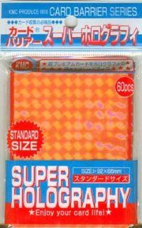 KMC Trading Card Sleeve   Orange Super Holography: Toys
