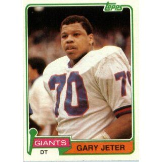 1981 Topps # 289 Gary Jeter New York Giants Football Card