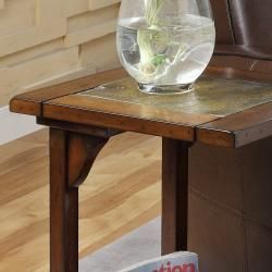 St Ives Dark Oak Chairside Table