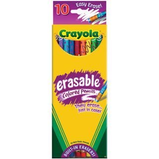 Crayola Erasable Colored Pencils (Pack of 10)