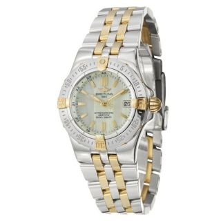 Breitling Womens Windrider Starliner Two tone Steel Quartz Watch