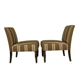 angeloHOME Bradstreet Modern Autumn Brown Armless Chairs (Set of 2