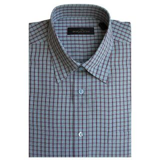 Bugatchi Uomo Mens Plaid Button front Shirt