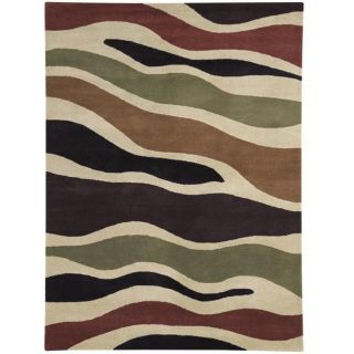 Hand tufted Fantasia Camo Wool Rug (211 x 411)