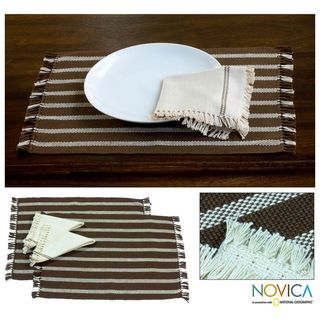 Set of 2 Cotton Coffee Harvest Placemats and Napkins (El Salvador