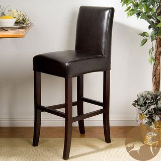 York Brown Bonded Leather 28 inch Bar Stool