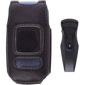 Wireless Solutions Clam Shell Leather Case for Pantech
