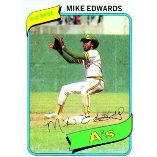 1980 Topps #301 Mike Edwards   Oakland Athletics (Baseball