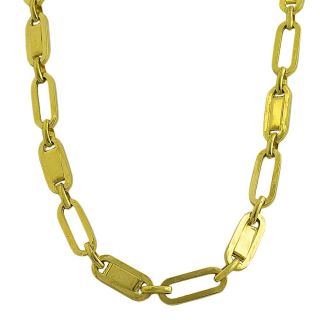 14k Yellow Gold Polished Oval Link Necklace