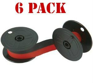 NEW Compatible Nukote BR80C Calculator Ribbon Black/Red (6
