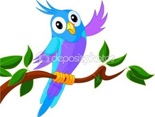 Cute Cartoon Parrot  Stock Vector © Anna Velichkovsky #2351103