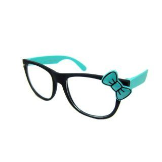 Hello Kitty 2 Tone Wayfarer Soft Touch Turquoise Black Bow