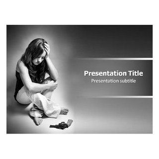 Depression (Ppt)powerpoint Template  Depression PPT Template  Stress