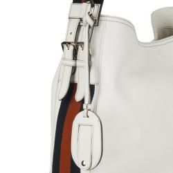 Gucci Heritage Medium White Leather Hobo Bag