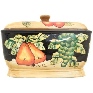 Casa Cortes Barcelona Collection Hand Painted Bread Box