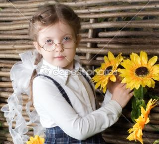 Beautiful little girl with flowers  Stock Photo © Tatiana Belova