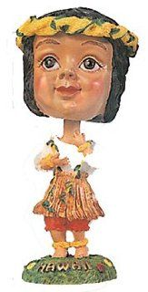 HULA GIRL W/ LEI   DASHBOARD DOLL BOBBLE HEAD   NODDING HEAD
