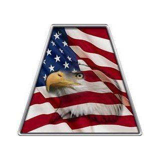 Fire Helmet American Flag Eagle TETRAHEDRONS   Single REFLECTIVE Decal
